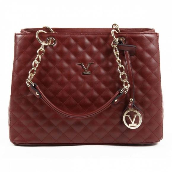 73d212834b V 1969 Italia Womens Handbag In Claret Red